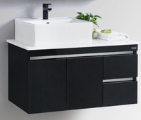 RUBINE Stainless Steel Basin Cabinet - RBF-1495D4 BK/WH