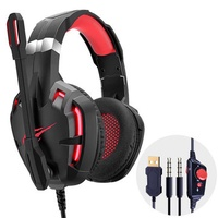 Havit F30 E-sports Wired Gaming Headphone USB 7.1 Stereo 50mm Dynamic Headset with HD Noise Cancelling Mic