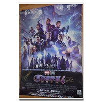 復仇者聯盟4終局之戰美國隊長鷹眼蟻人等7人親筆簽名中國原版海報