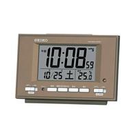 精工SEIKO CLOCK鐘表製造精工SEIKO鬧鐘座鐘SQ778B棕色 seiko specialty store 3s