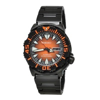 SEIKO MONSTER AUTOMATIC SRP311K1 STAINLESS STEEL BLACK MENS WATCH