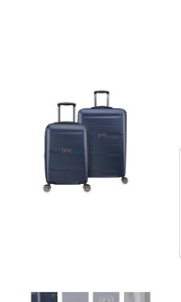 """DELSEY Paris Comete 2.0 2 Piece 21"""" Inch Carry On Cabin Size Sized Suitcase Luggage ans 28"""" Large Luggage Suitcase Set"""