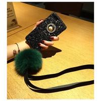 🍍VIVO V9 V7 V5 Plus Lite Y83 Y71 Y55 Scrub Glitter Personality Plush Ball Rabbit Case