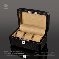 Top Quanlity Leather And Wood Watch Box Fashion Black Color Watch Gift Brand Wat