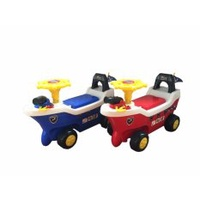 Aleoca Push Car 606 Pirate Ship Design (Red)