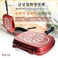 【韓國Hanaro high】原裝進口 雙面大理石不沾煎烤盤/雙面夾鍋 PA-12