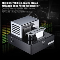 YAQIN MS-23B Tube Phono Preamplifier Stage MM RIAA Phonograph Pre-amp Stereo HiFi Audio Amplifier Am