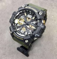2018 Latest Release Casio GSG100 Olive Green Gold Gshock Mudmaster Tough Solar 100% Authentic FREE DELIVERY G-Shock