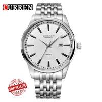 CURREN/卡瑞恩8052男士鋼帶手錶日曆男錶 簡約時尚商務男錶