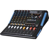 Professional Six-Channel Audio Mixer with USB Interface, Bluetooth, and DSP Sound Effects
