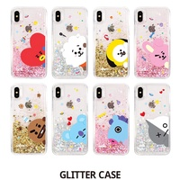 BTS BT21 GLITTER Phone Case Cover Official Authentic Goods For Galaxy