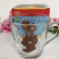 ~薰之物~LINE FRIENDS 造型把手玻璃杯 熊大 玻璃杯 馬克杯 茶杯 水杯