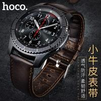 【愛瘋潮】99免運   HOCO Samsung Gear S3 真皮瘋馬紋錶帶