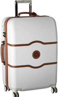 """Delsey Paris Luggage Chatelet Hard+ 24 Inch 24"""" Spinner Suiter Trolley suitcase luggage Champagne Off White"""