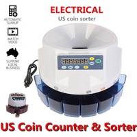 CIN¤Commercial Automatic Electronic Digital US Coin Sorter Change Counter Fast Sort