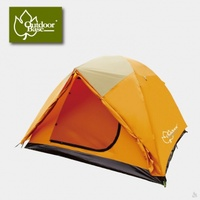 Outdoorbase 桔野6人帳篷(外帳延伸加強防雨擋光 新增銀膠抗UV) 21201