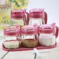 調料盒套裝家用 玻璃調味罐調味盒調料瓶鹽罐油壺調料罐 露露日記