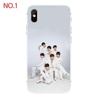 Korean Fashion Mobile Phone Case BTS Bangtan Boys Pattern Phone Case for Iphone 5/5se/5s 6/6S Plus 7