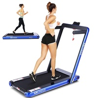 ANCHEER 2 in 1 Folding Treadmill, 2.25 HP Walking Running Machine Under Desk Walking Treadmill with Foldable Handtrail, Bluetooth Audio Speakers for Home Cardio Exercise