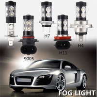 2x 50W H1 H4 H7 H11 9005 3535 LED 10 SMD 1900LM 6000K Xenon White Fog Light Driving Bulb Lamp
