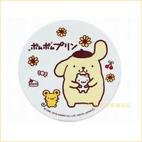asdfkitty可愛家☆日本金正陶器 布丁狗圓型陶瓷吸水杯墊-日本正版商品