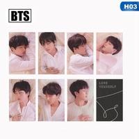 Acagedem 7Pcs/Set KPOP BTS Bangtan Boys Love Yourself Album Photo Card Photocard Gift