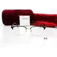 古馳金屬全框眼鏡架 GUCCI中性小框板材腿時尚款眼鏡框