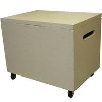 有雙方棧蓋的鄉村木材箱(W35×D25×H29cm)古董白收納箱定做1191921 Angels Dust