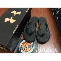 【 鋒仔球鞋 】UNDER ARMOUR UA拖鞋 夾腳拖 黑色   全防水 女鞋 1252540-002