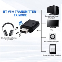 Wireless Bluetooth 5.0 Transmitter Receiver 2-in-1 USB Wireless Bluetooth Audio