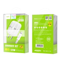 """Hoco Wall charger """"C41 Wisdom"""" US dual USB charging adapter lightning"""