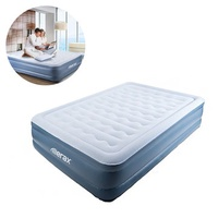 Merax 76.77 x 59 x 17.7inch Queen Size Air Mattresses Camping Travel Lazy Air Bed Moisture Proof Mat With Pillow 120V AC Pump