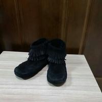 莫卡辛流蘇靴 約19cm