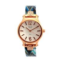 Alexandre Christie นาฬิกาข้อมือผู้หญิง สีน้ำเงิน/ขาว รุ่น 2399 LHBRGSLBU