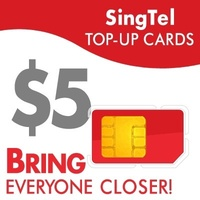 SingTel $5 Top-Up