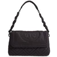 toribachishorudabaggu Tory Burch 55203Small Fleming Quilted Nylon Shoulder Bag(BLACK)Fleming Cos.,Inc.尼龍挎包(黑色)Fleming Quilted Shoulder Bag新作品正規的物品美國購置女士包手提包 witusa