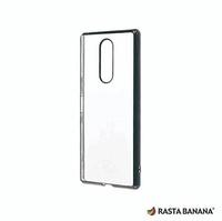 【RASTA BANANA】 Xperia 1 輕量柔韌電鍍保護殼 (黑色款)