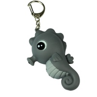 Plastic Cute Accessory Keychain Sea Horse