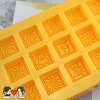 18連綠豆糕模具 連體綠豆冰糕模具手壓式方形25g糕點月餅模具商用