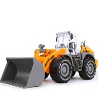 factory 1:22 Bulldozer Models Toy Large ABS Diecast Toys Digging Toys Model Farmland Tractor Truck E