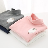 &quot Arbutus&quot  2015 fall/winter girls Turtleneck t shirt soft top two pieces of lamb-mail