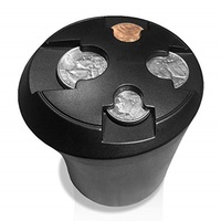 T1A Cup Holder Change Organizer - Coin Sorting Cupholder for Cars & Trucks | Sorts Quarter