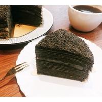 頂級特濃黑芝麻花生麻糬千層蛋糕-7吋 #香濃黑芝麻 #Q彈麻糬