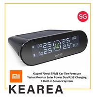 Xiaomi 70mai TPMS Car Tire Pressure Tester Monitor Solar Power Dual USB Charging