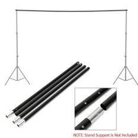 2 x Adjustable Background Crossbar Kit For Photo Studio Backdrop Support Stand 10Ft