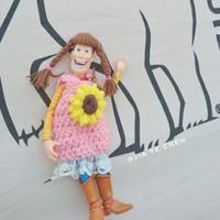 蕾絲向日葵洋裝 山口式胡迪 山口胡迪 胡迪 海洋堂 山口式胡迪適用 娃衣  帽子 假髮 愛老胡 手工 客制化 毛線 編織