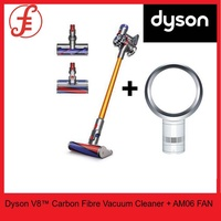 Dyson V8™ Carbon Fibre Cord-Free Vacuum Cleaner + Dyson AM06 Desk Fan White/Silver