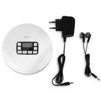 LCD Portable AUX CD Player + Headphone for MP3/CD/CD-R/CD-RW Disk White (EU Plug) - intl