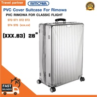 พลาสติกใสคลุมกระเป๋าแบบซิป เฉพาะแบรนด์ RIMOWA Classic Flight  / Travel Partner PVC for RIMOWA Classic Flight Luggage Sets Cover Protector Clear PVC Suitcase Case Protective with Grey Zipper