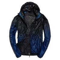 S.WET正品 極度乾燥 Superdry Active Core 風衣 超輕薄 連帽夾克 外套 運動 附收納袋 黑藍 2XL
